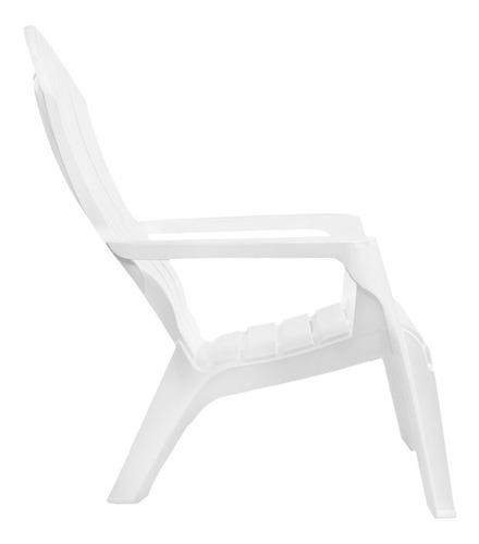 sillon jardin plastico garden life miami blanco
