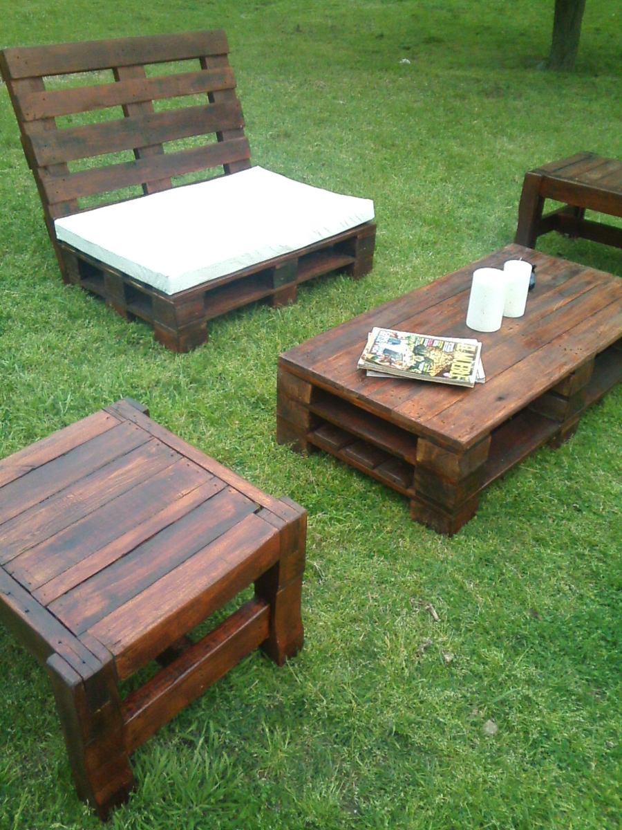 Sillon Jardin Relax 2 Cpos. Muebles Pallets - $ 2.100,00 en Mercado ...