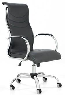 sillón jazz cromado gerencial oficina respaldo alto bascula