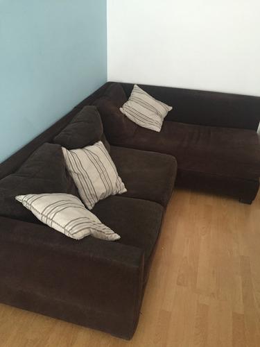 sillón  l 3 cuerpos con camastro chenille