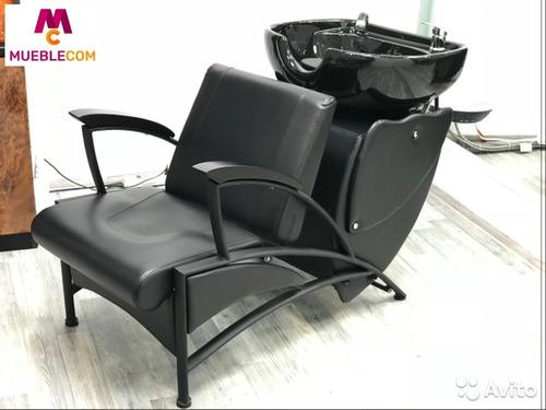 sillón lavacabezas mueble peluquería barbería belleza monaco