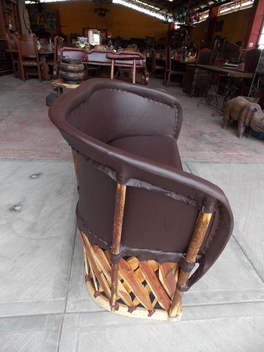 sillon love seat artesanal para 2 personas estilo equipal.
