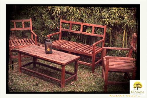 sillón madera exterior