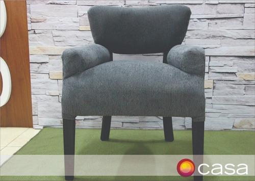 sillon matero con apoya brazos tapizado en chenille