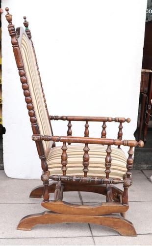 sillón mecedora thudor madera - antig la rueda _ l r