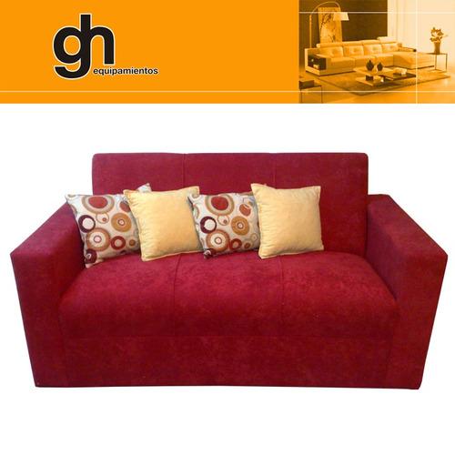 sillon minimalista 3 cuerpos, sofa  finas terminaciones gh