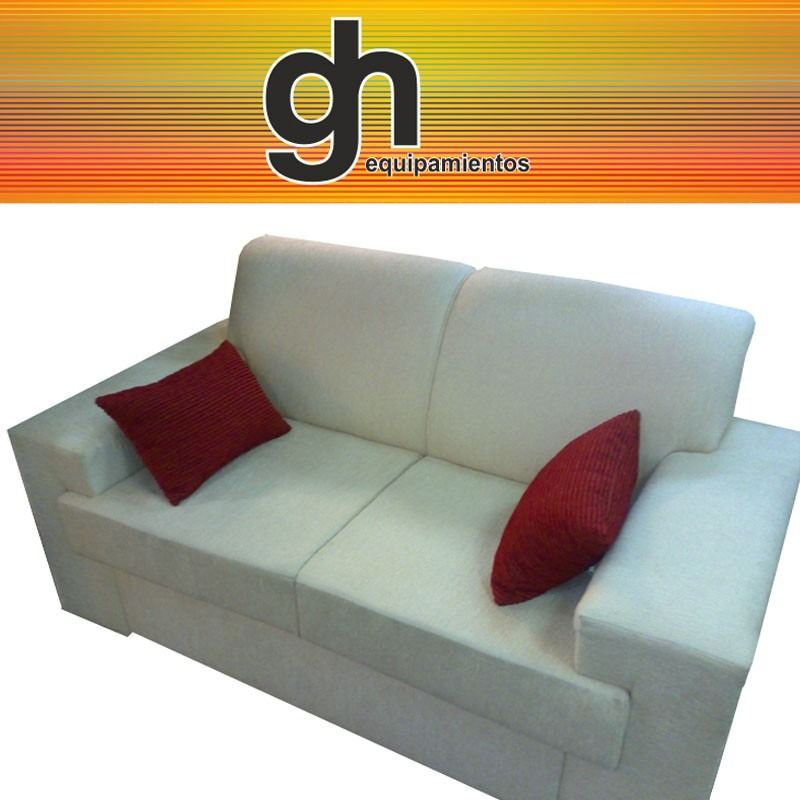 Sillon minimalista de 2 cuerpos sofa muy confortable for Sofa minimalista