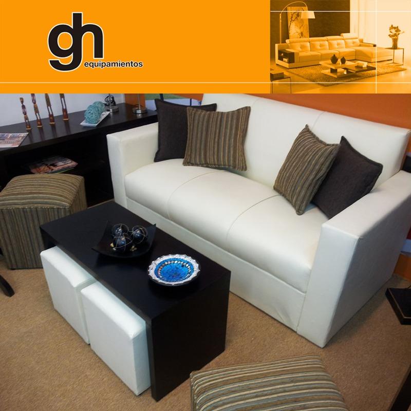Sillon Minimalista De 3 Cuerpos Sofa Finas Terminaciones