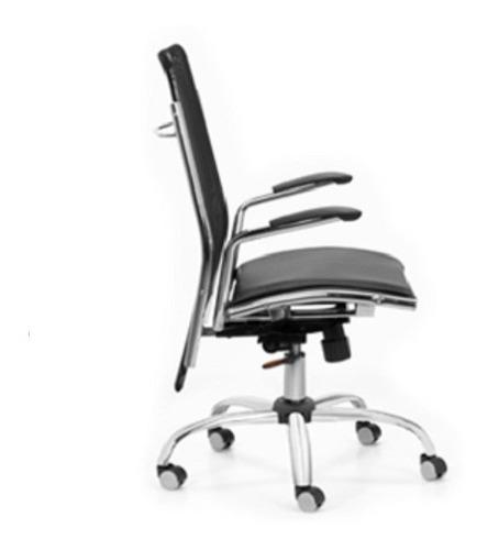 sillón miró gerencial oficina alto cromado basculante kromos