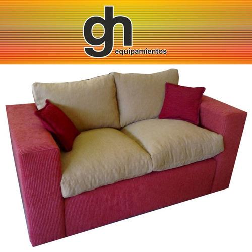 sillon modelo parís, 2 cuerpos, sofá c/almohadones sueltos..