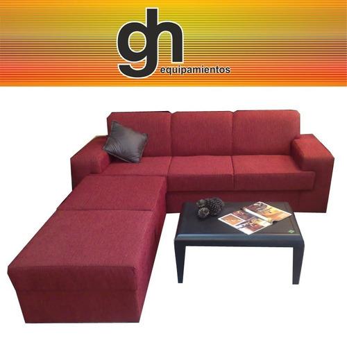 sillon moderno cheis longue , sofa de 3 + 2 islas