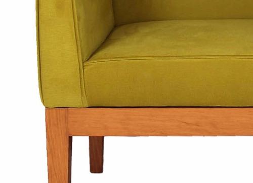 sillon moderno madera tapizado sala - madera viva