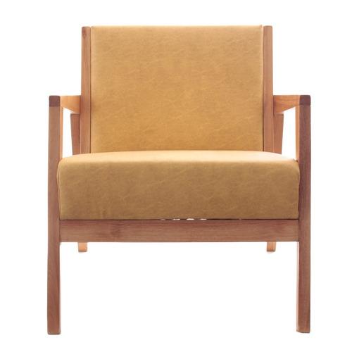 sillón nórdico paraíso escandinavo ocre