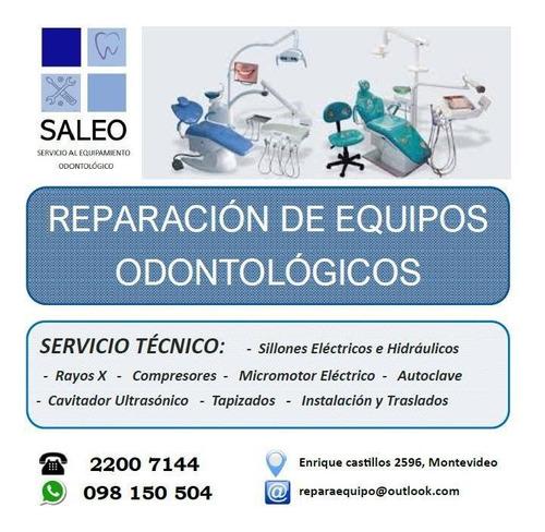 sillón odontológico, autoclave, compresor, rayos x cavitador