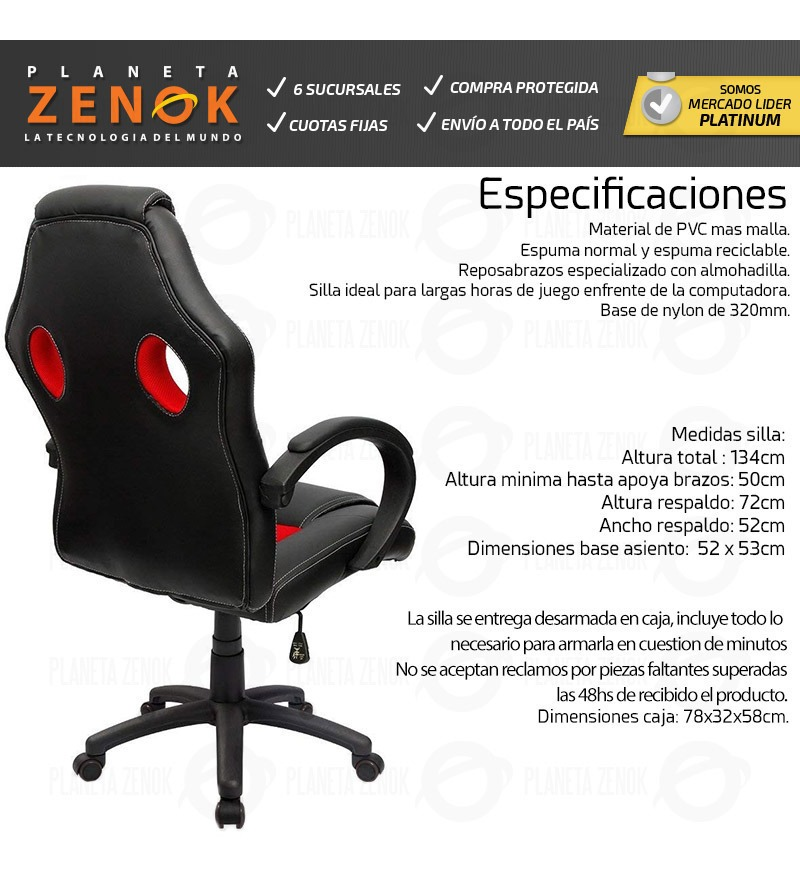 Sillon Esports Oficina Butaca Silla Pro Reclinable Gamer c3u1lKJTF