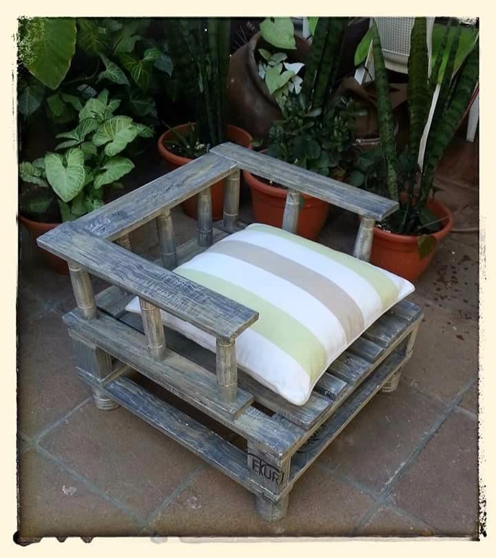 sillon pallets palet reciclado rustico cargando zoom with sillon pallets - Sillon Palets