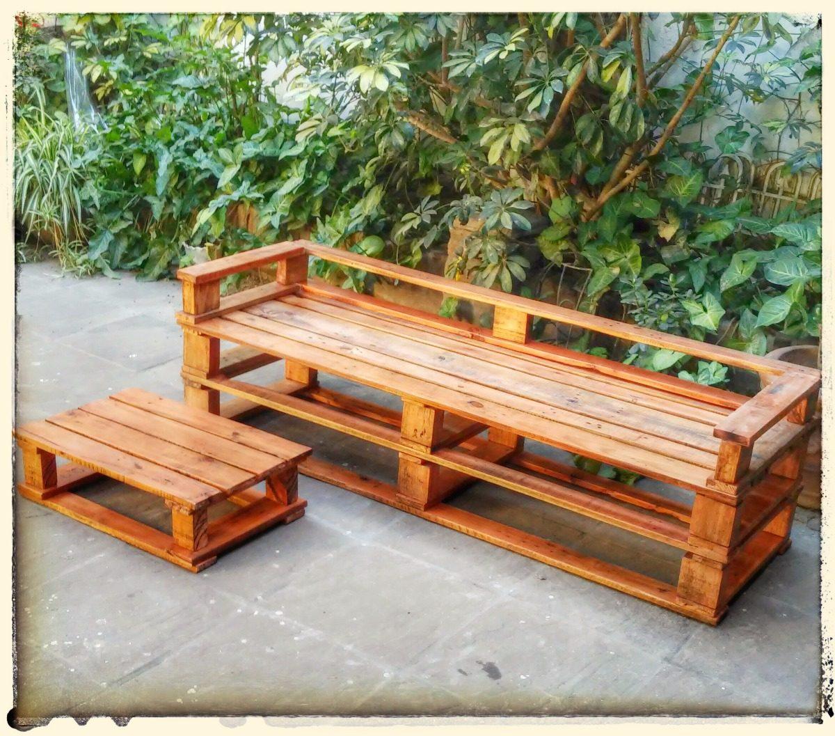 Sillon Pallets Palet Reciclado Rustico - $ 3.925,00 en Mercado Libre
