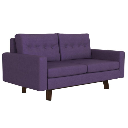 sillón pangea pana lila 2 cuerpos