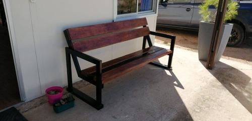 sillón para jardín hierro y madera