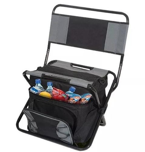 sillon pesca plegable con cooler y mochila