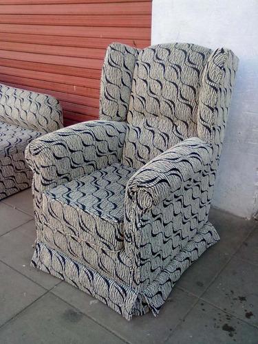 sillon petit berger en tela con asiento en placa. mi sofa.