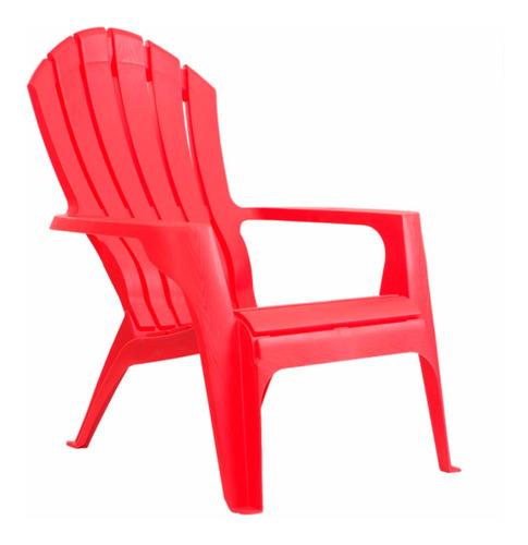 sillón plástico garden life miami rojo