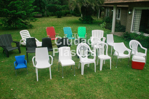 sillon plastico melody simil ratan apilable