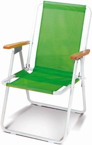 sillón plegable 1 posición apoyabrazos de madera aimaretti