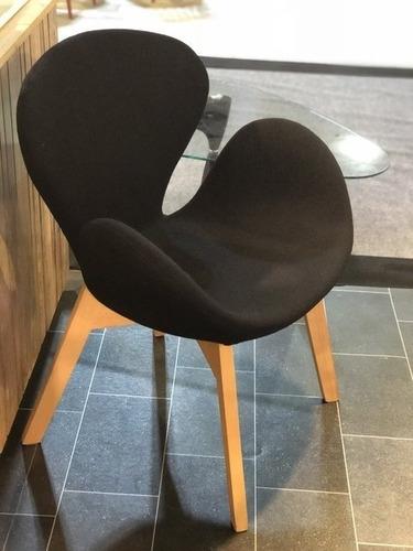 sillon poltrona florencia diseño moderno 1 cuerpo nordico base madera