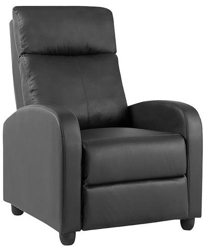 sillón poltrona reclinable en pu  negro o chocolate punion
