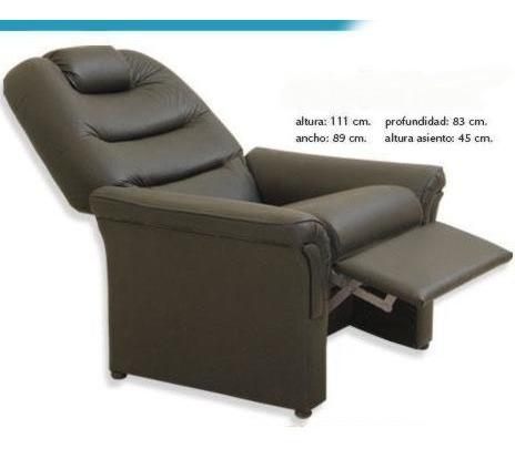 sillon poltrona reclinable relax marron casi cama kromo-s