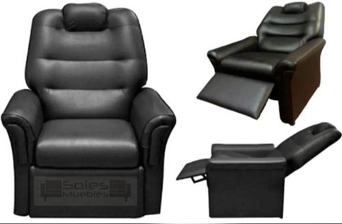 sillón poltrona relax reclinable eco cuero con garantia prom