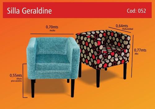 sillon poltrona silla/butaca super soft!!!! modelo geraldine