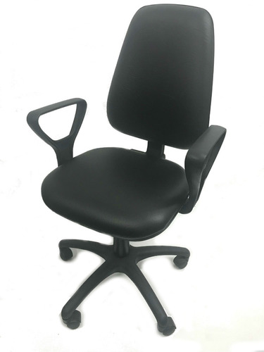 sillón profesional oficina c brazos neumática rudy 210 negro