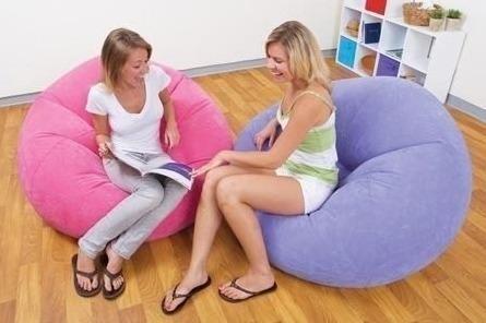 sillón puff inflable intex