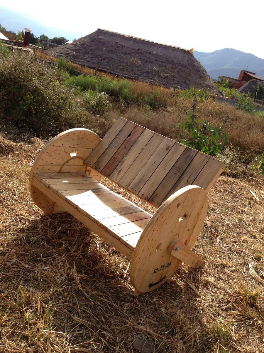Sillon reclinable 2 personas de madera reciclada 3 200 - Sillon con palets de madera ...