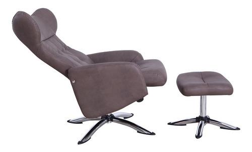 sillon reclinable bt70790b chocolate këssa muebles