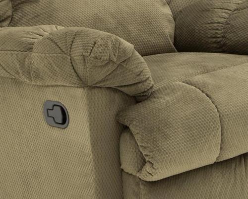 sillón reclinable diana en microfibra café claro pm-4208083