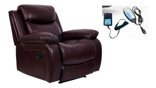 sillón reclinable masajeador control, comodo, elegante