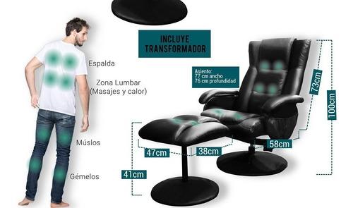 sillon reclinable + masajeador + motores pc silla oferta