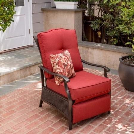 Sillon reclinable para exterior acolchonada de rat n for Sillon reclinable exterior