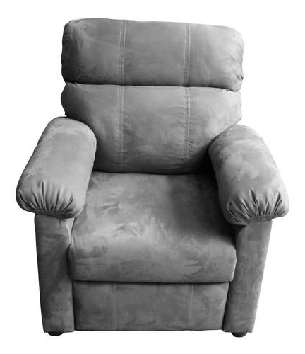 sillón reclinable reposet sala tela piel ortopédico roma