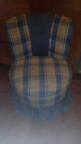 sillón redondo 1 cuerpo con volados