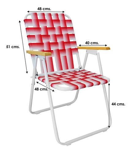 sillón reposera fijo cinta caño pintado 7/8 reforzado