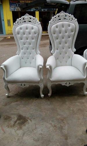 sillón rey vintage para eventos - alquiler