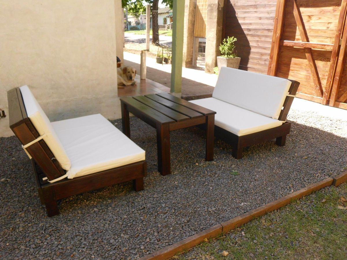 Sill n rustico en madera tratada para jardin exterior for Sillon jardin madera
