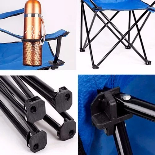 sillon silla director camping apoyabrazo porta vaso bolso