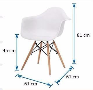 sillon silla eames base de madera - excelente calidad