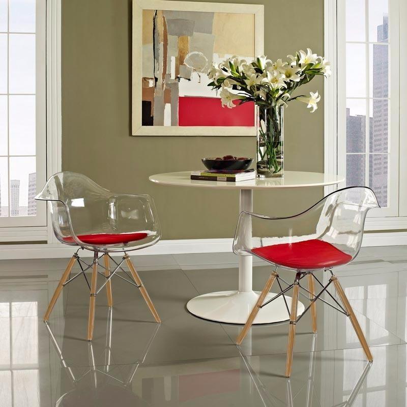 Sillon Silla Eames Transparente Comedor Eiffel + Almohadón - $ 2.099 ...