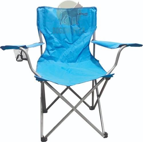 sillón silla plegable con reposabrazos camping